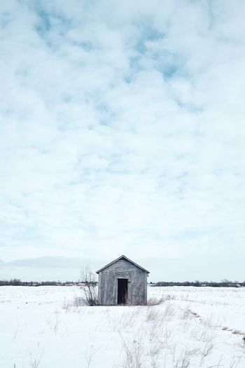 Lonely outpost. Sentinel Prairie Scenes Outpost Canada Winter Tranquility Snow Serene Prairie Peaceful Prairies Fuji X-T1 Winnipeg Fujifilm_xseries Manitoba Lonely Empty Expanse Clouds Cloudscape