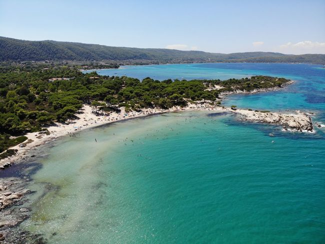 Aerial Shot Aerial View Beach Beauty In Nature Bird View Blue Day High Angle View Idyllic Lagoon Land Mountain Nature No People Non-urban Scene Outdoors Scenics - Nature Sea Sky Tranquil Scene Tranquility Turquoise Colored Water