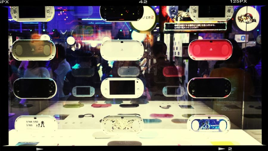 The new ps vita 2000 in Tokyo game show Videogaming Taking Photos Check This Out Amazing *-*