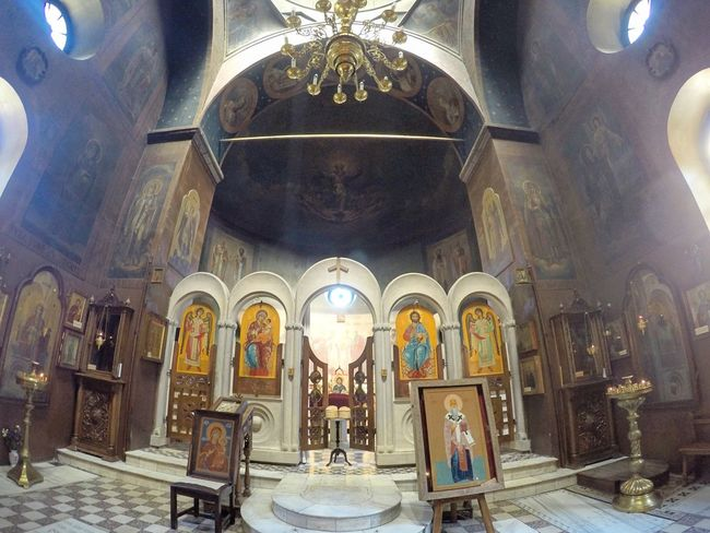 Altar Architectural Column Architecture Architecture Built Structure Caucasus Day Fisheye FishEyeEm Georgia Gopro Goprohero4 Indoors  Low Angle View Monastery Mountain No People Orthodox Church Place Of Worship Religion Spirituality Statue Tbilisi Tbilisi Loves You