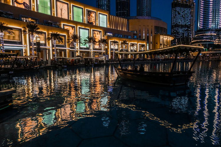 Reflection The Architect - 2018 EyeEm Awards The Traveler - 2018 EyeEm Awards Architecture Boat Boats Building Building Exterior Built Structure Canal City Illuminated Mode Of Transportation Moored Nature Nautical Vessel Night No People Outdoors Passenger Craft Reflection Transportation Travel Travel Destinations Water Waterfront HUAWEI Photo Award: After Dark #urbanana: The Urban Playground