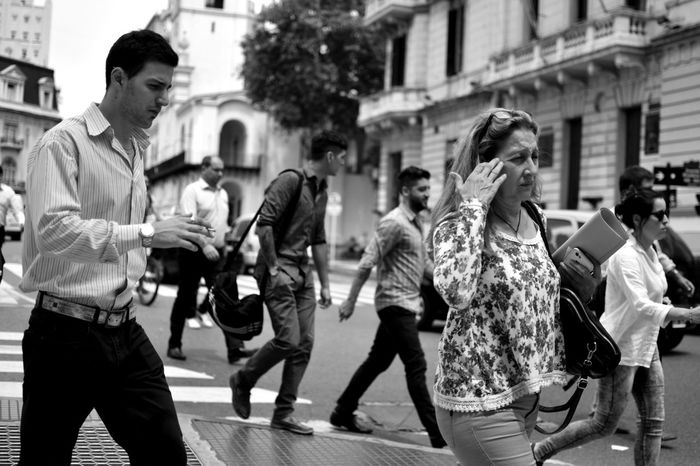 Adult Adults Only Black And White Blackandwhite Buenos Aires Business Busy City Crowd Day Outdoors People Street Street Photography Streetphotography Walking
