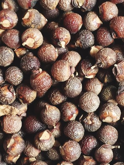 Full frame shot of dried fruit
