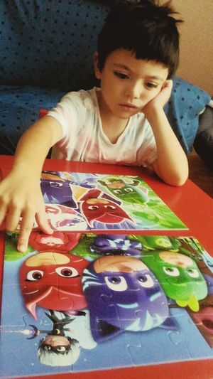 Children Photography Children Funtimes Fun Puzzle Collection Childhood Boys Child Puzzle Piece Puzzle Pieces Puzzles One Person Day Table Multi Colored People