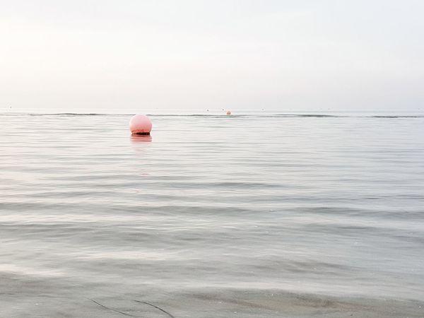 | Quiet | Bibione Pineda Quiet Moments EyeEmItaly Sea Beach Water Buoy Outdoor Pursuit Sand Sky Seascape Horizon Over Water Wave