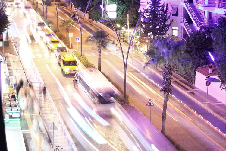 My 3 favorite holiday pictures from Marmaris in Turkey Architecture Blurred Motion Building Exterior Car City City Life City Street High Angle View Illuminated Light Trail Long Exposure Mode Of Transportation Motion Motor Vehicle Night Nightlife No People Outdoors Plant Purple Road Speed Street Transportation Tree