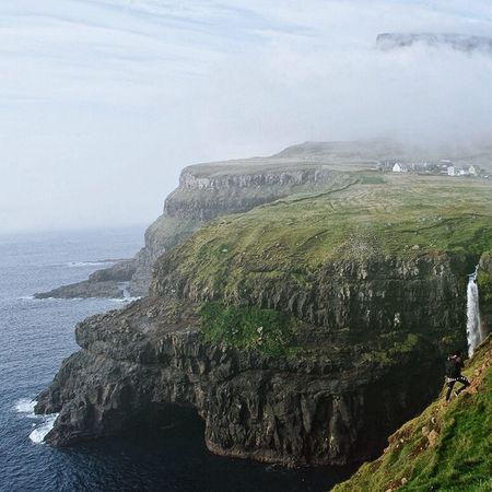 Less than 20 people live in this village. Gasadalur Faroe Islands Travel Nature