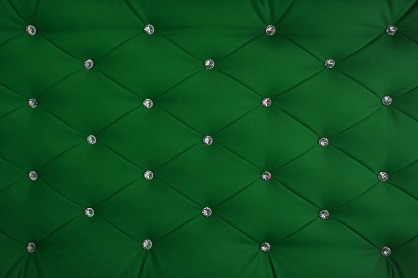 Button Chesterfield Leather Old-fashioned Backgrounds Capitone Close-up Design Detail Diamond Full Frame Green Color Luxury Modern No People Pattern Rhombus Seamless Pattern Studio Shot Symmetry Texture Textured