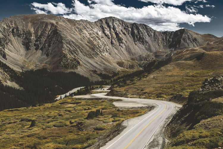Driving over Loveland Pass in Colorado, USA. Road Loveland Pass Colorado Alpine Mountain Transportation Mountain Range No People Mountain Road Direction Sky Road Trip EyeEmNewHere