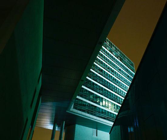 Architecture Architecture Architecture_collection Austria Low Angle View Modern Night Nightphotography No People Urban Urban Geometry Urban Lifestyle Vienna Wien The Architect - 2017 EyeEm Awards