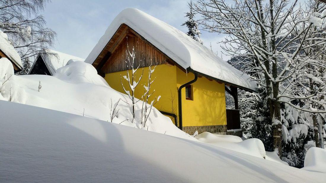 Snow Winter Cold Temperature Built Structure House Architecture Building Exterior