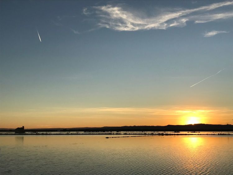 Sunset Sky Nature Scenics Tranquility Water Reflection