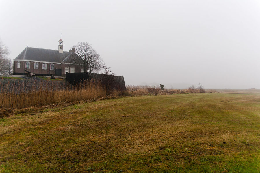 Abandoned Island Schokland, could not win from the rising sea , now museum island seewall Schokland Zuiderzee Museum Island Seewall Schokland Landscape Beauty In Nature Tree No People Outdoors Fog Fade To Grey