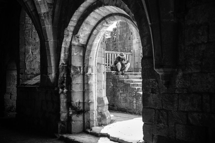 EyeEm Best Shots Ancient Arch Architectural Column Architecture Building Built Structure Day Eye4black&white  Eye4photography  Full Length History Indoors  Leisure Activity Lifestyles Men Old People Real People Rear View Shootermag Sunlight The Past Women