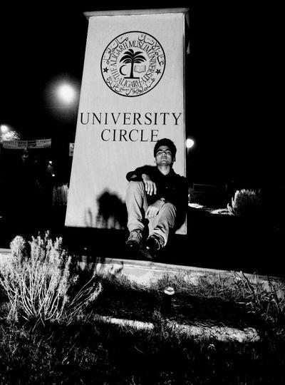 Thats Me! Night Scene, university Circle, Aligarh Muslim university, India .