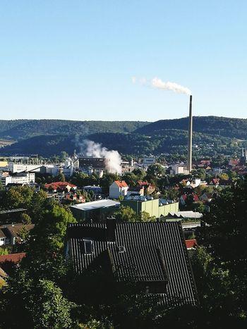 蓝天白云下的德国造纸厂 First Eyeem Photo
