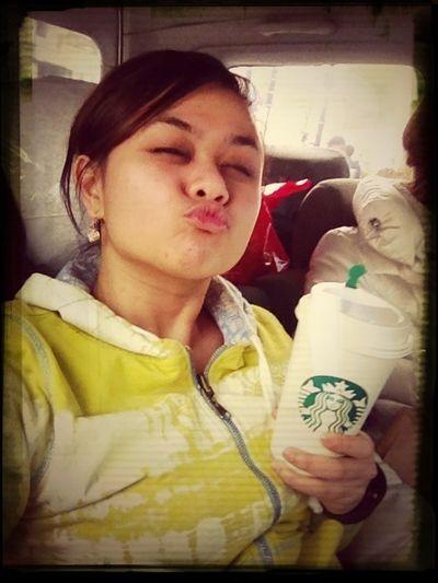after a month aloha Tokyo:) long driving wew .. walang Tulog ...nakapag kape den:)