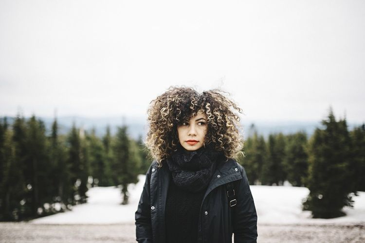 Winter Cold Temperature Snow Warm Clothing Only Women One Woman Only Adults Only Adult One Person People Portrait Women Outdoors Beauty Vacations Curly Hair Beautiful Woman One Young Woman Only Day Beauty In Nature