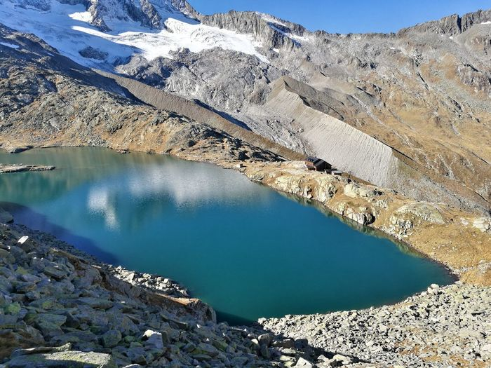Gletscher Wandern Bergsee Outdoors Cold Water Likeit Water Mountain Lake Sky
