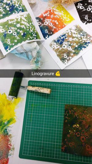 Linogravue Linogravure Art Colors Painting Manaa Colors Of Carnival Drawing ✏ Flowers Beginner Artist