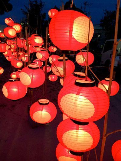 Illuminated Night No People Lantern Celebration Indoors  Yamaguchi, Japan Festival Tyouchin