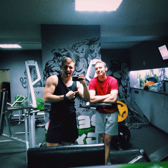 In gym with my bro 😉 Gym Energy Diet NLint Супергерои⚡️