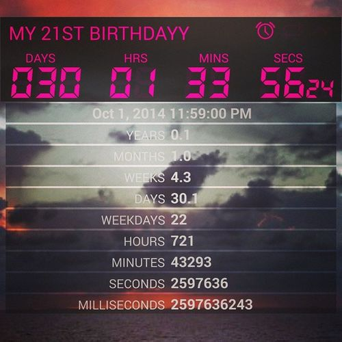 My 21st Birthdays is in one month Almost21 30days 21stbirthday