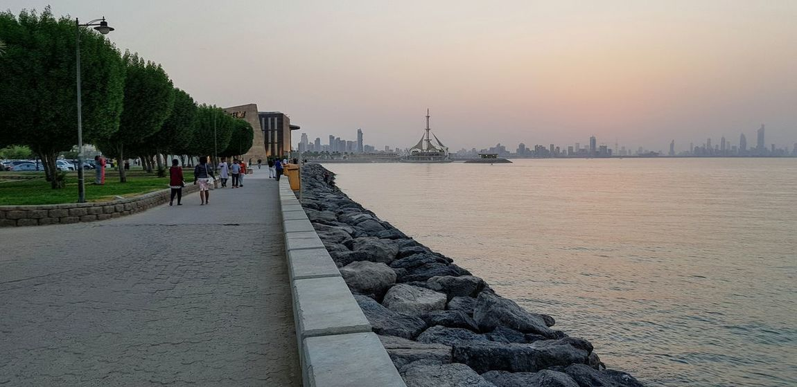Sunset, Salmiya, Kuwait City Cityscape Tree Water Urban Skyline Business Finance And Industry Sky Architecture Visiting Boat Historic Horizon Over Water Tower Tall - High TOWNSCAPE Calm #urbanana: The Urban Playground EyeEmNewHere