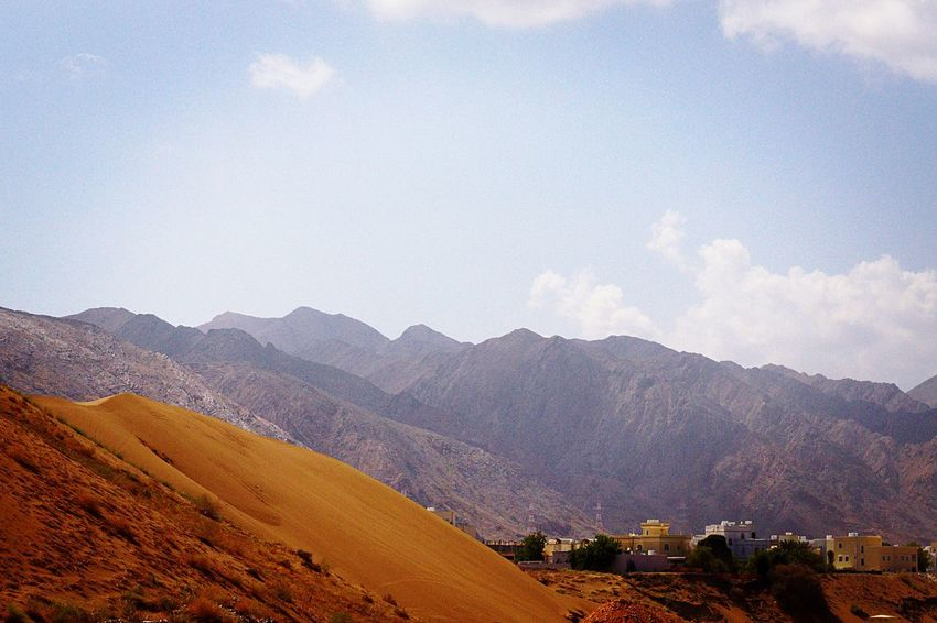 Deserts Around The World OMAN-MUSCAT dunes and mountains