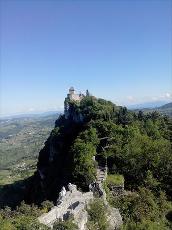 Architecture Beauty In Nature Built Structure Cesta Clear Skies Fratta Monte Titano Mount Titan Mountain Mountain Range On Top Of A Mountain Passo Delle Streghe San Marino Country.... San Marino,italy The Architect - 2016 EyeEm Awards Travel Destinations Witches Pass