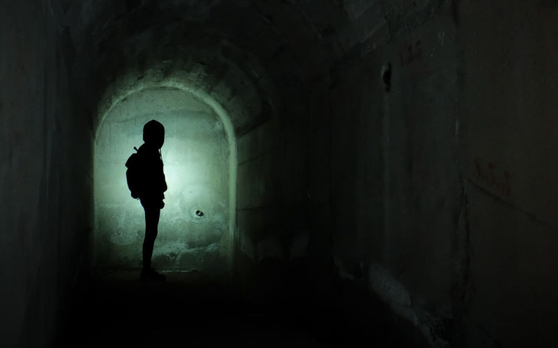 Canary Islands Lanzarote Arch Architecture Catacombs Corridor Dam darkness and light Light At The End Of The Tunnel One Person Scary Silhouette Tunnel Tunnel Of Light Xh1 Go Higher