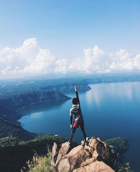P E A C E Mountain View Peak Sea Adults Only Only Women One Woman Only One Person Vacations Adult Young Adult Water Adventure Outdoors People Day Sky First Eyeem Photo