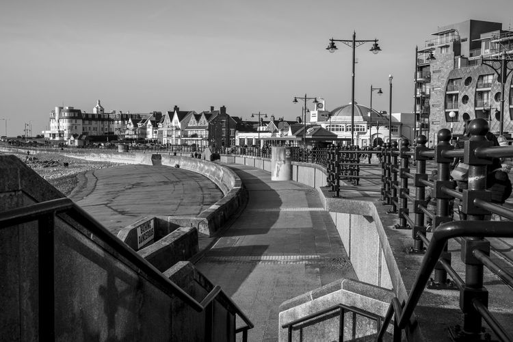 Coastline Porthcawl Railing South Wales Architecture Building Exterior Built Structure City Coastal Architecture Coastal Promenade Coastal Town Day Monochrome No People Outdoors Sky