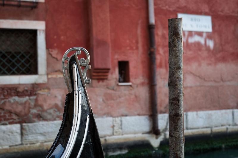 Gondola against building