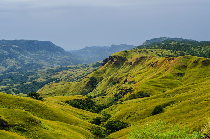 The grass is greener on the other side Beauty In Nature Day Fiji Green Color Landscape Mountain Mountain Range Nature Nausori Highlands No People Outdoors Scenics Sky Tranquil Scene The Great Outdoors - 2017 EyeEm Awards
