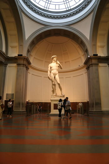 David Florence Italy Accademia Architectural Column Architecture Built Structure Day Human Representation Indoors  Male Likeness Michelangelo's David Museum No People Sculpture Statue Travel Destinations