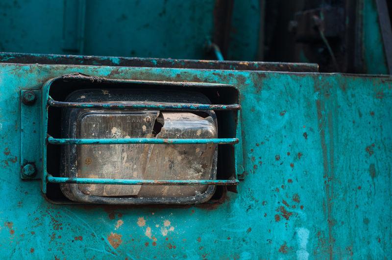 Detail Shot Of Vehicle Headlight
