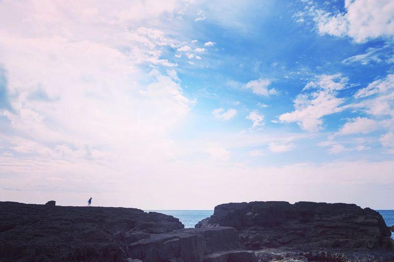 南原千畳敷 八丈島 Hachijo-island Sky Beach
