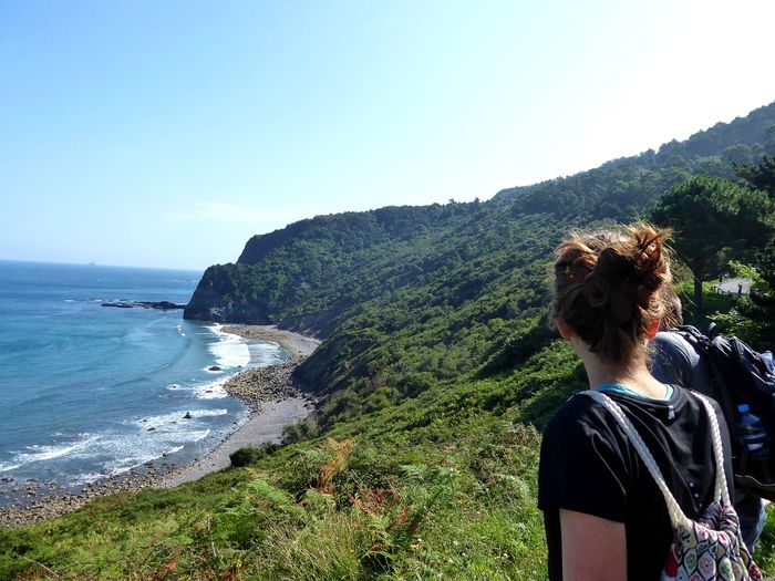 Sea Clear Sky Women Beach Wave Water Rear View Sky Horizon Over Water Human Back Countryside Escapism Looking At View Ocean Hiker Observation Point Alone Back Shore Calm Coast EyeEmNewHere