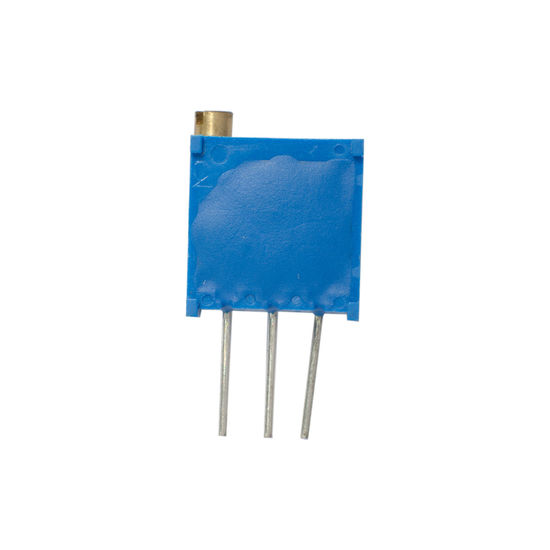 resistor trimpot on white background Blue Components Day Electrical Electricity  Hardware No People Ohm Potential  Potentiometer Resist Studio Shot Trimpot White Background