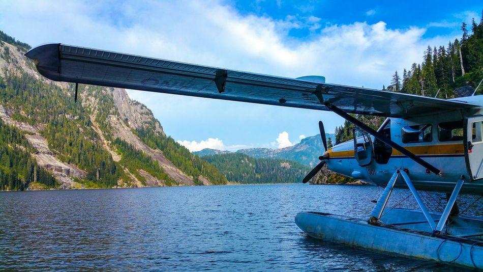 Sitting on Widgeon Lake, British Columbia My Smartphone Life Taking Photos Landscape Sea Plane Vancouver BC Britishcolumbia Lake View Nature Connected With Nature Dehavilland