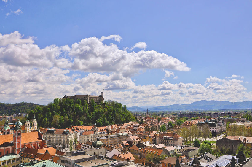Architecture Building Exterior Built Structure City Cityscape Cityscapes Cloud Cloud - Sky Day Green Green Capital Green Capital Of Europe 2016 Ljubljana Ljubljana Castle Ljubljanica Ljubljanski Grad Mountain My Commute No People Outdoors Sky Battle Of The Cities My Favorite Place Town TOWNSCAPE