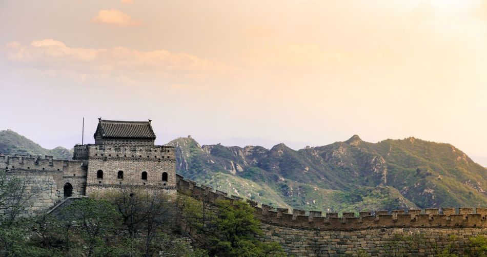 Walking up Greatwall Greatwallofchina Thegreatwall Beijing Beijing, China Architecture Built Structure No People History Mountain Travel Destinations Nature Sky Editing Scenics Beauty In Nature