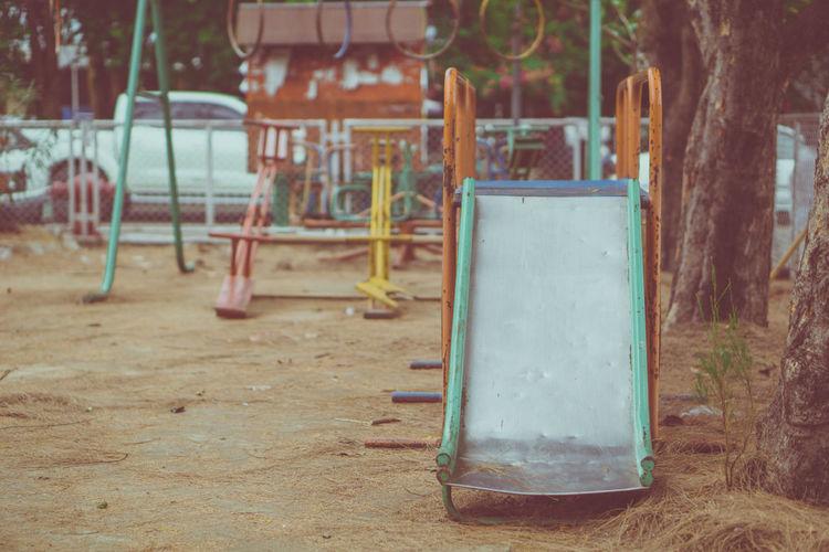 Empty seats in playground