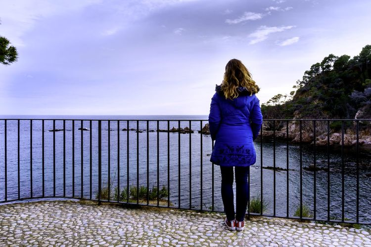 Horizon Over Water Day Beauty In Nature Outdoors Nature Sky Real People Water Young Women Blond Hair Full Length Women Standing Tree Blue Rear View Long Hair Back Human Back Calm Looking At View Footbridge Tranquil Scene Tranquility Countryside Observation Point Rope Bridge Shoulder Go Higher Idyllic The Great Outdoors - 2018 EyeEm Awards A New Beginning
