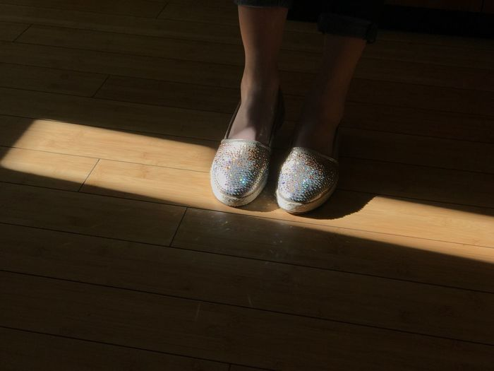 Close-up of shiny shoes