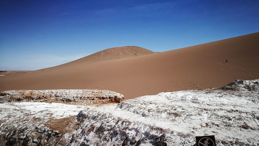 Desert Landscape Nature No People Beauty In Nature Arid Climate Outdoors Sunlight Day Tranquility Atacama Desert Chilelindo  Chile♥ Sanpedro Cold Temperature Beauty In Nature Desert Mountain Nature Salt - Mineral Reflection Travel