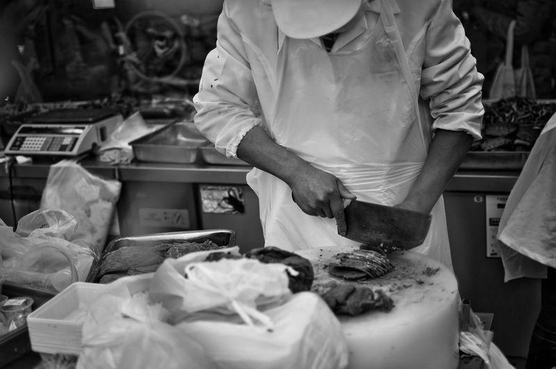 Cooking Shanghai Cook  China Blackandwhite Streetphotography