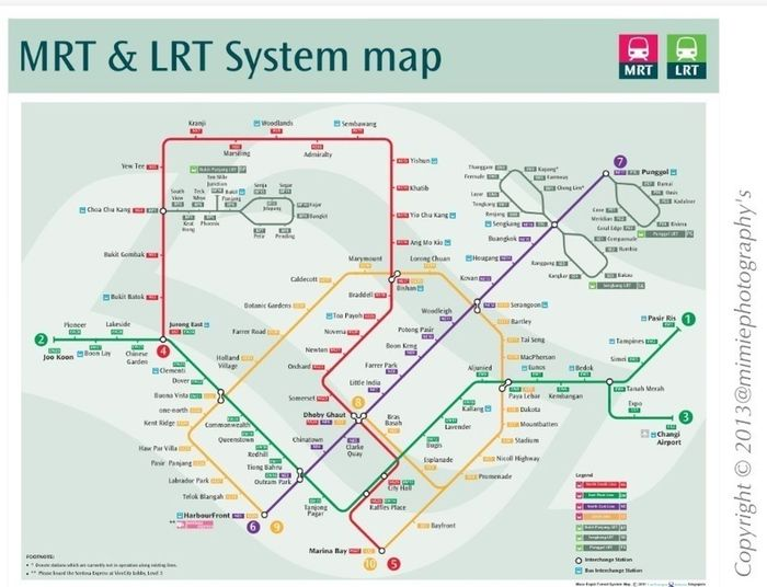 The Singapore Train Map
