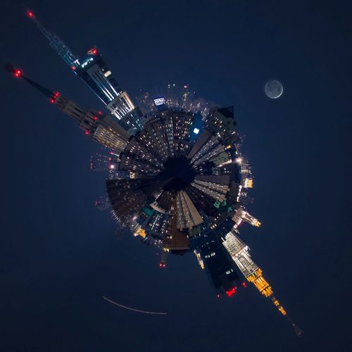 Москва LittlePlanet Cityscapes Streetphotography Night Lights Nightphotography Roof